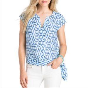 VINEYARD VINES l Lattice Silk Blend Shirt Sz 6